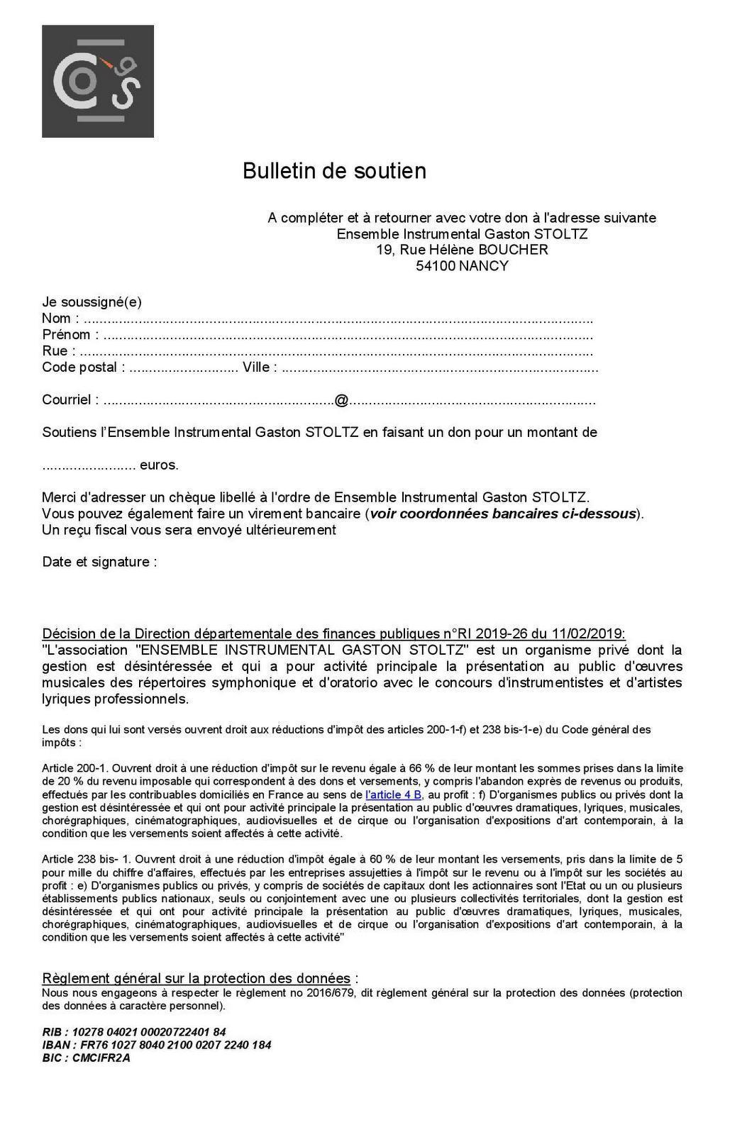 Bulletin de soutien ogs dec20